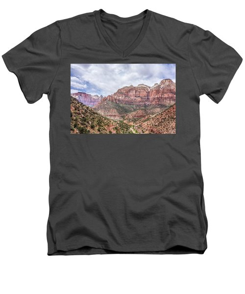 Zion Canyon National Park Utah Men's V-Neck T-Shirt