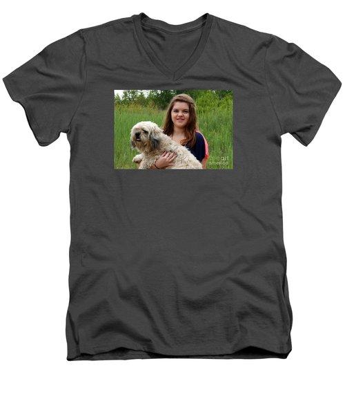 3459 Men's V-Neck T-Shirt by Mark J Seefeldt