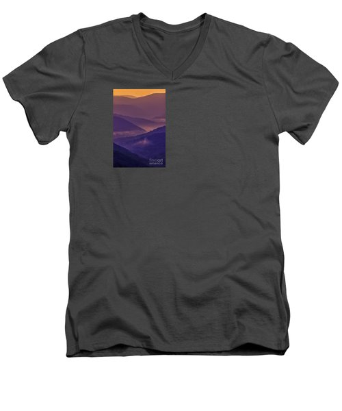 Allegheny Mountain Sunrise Two Men's V-Neck T-Shirt
