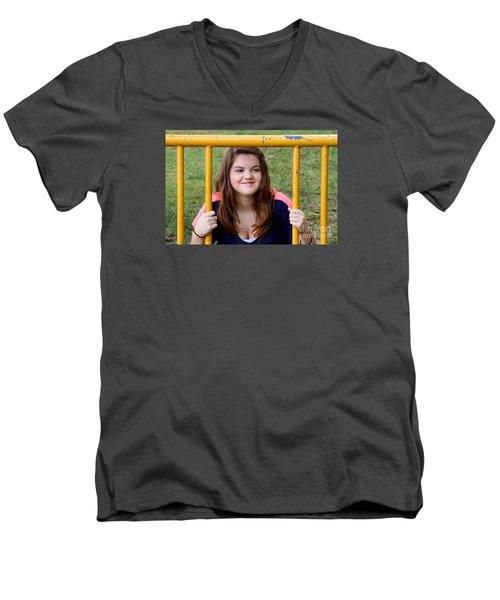 3524 Men's V-Neck T-Shirt by Mark J Seefeldt