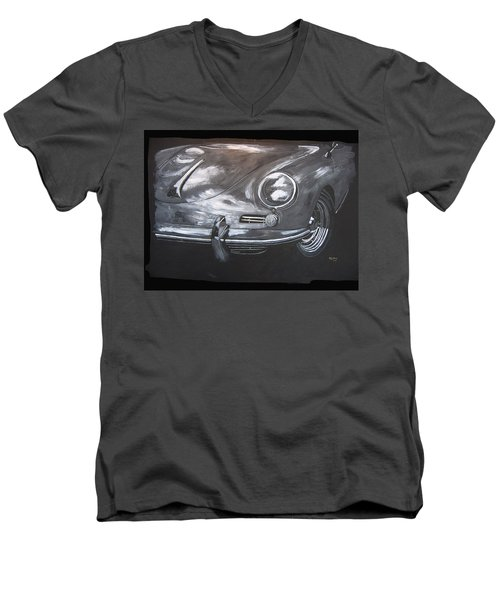 356 Porsche Front Men's V-Neck T-Shirt
