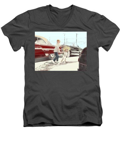 35th St. Palmdale Men's V-Neck T-Shirt