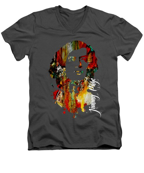 Jimmy Page Collection Men's V-Neck T-Shirt by Marvin Blaine