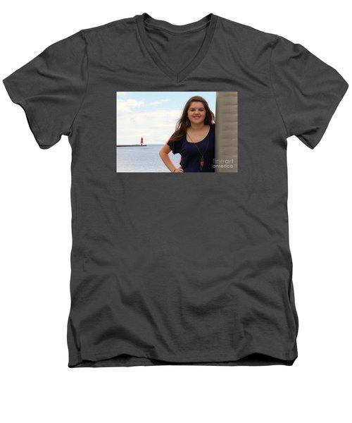 3678c Men's V-Neck T-Shirt by Mark J Seefeldt