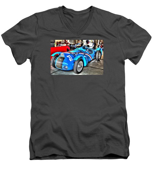 Delahaye Fast From The Front Men's V-Neck T-Shirt