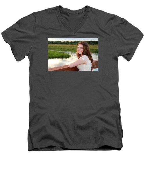 3734 Men's V-Neck T-Shirt by Mark J Seefeldt
