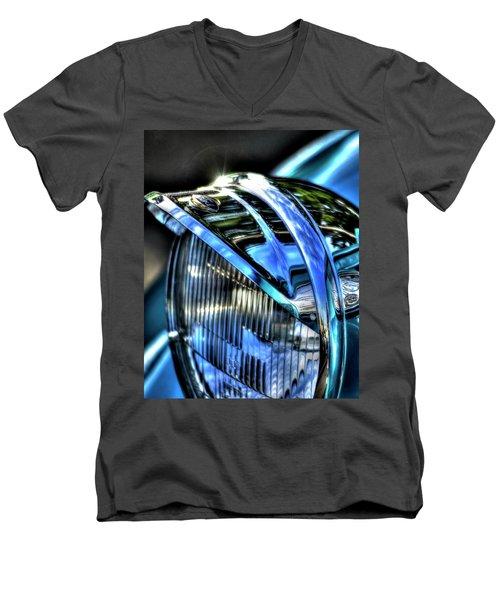 38 Ford Headlamp Men's V-Neck T-Shirt by Jerry Sodorff
