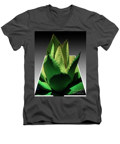 3d Cactus Men's V-Neck T-Shirt by Darleen Stry