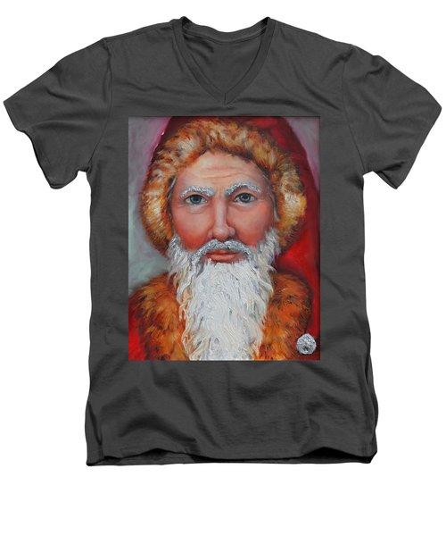 3d Santa Men's V-Neck T-Shirt