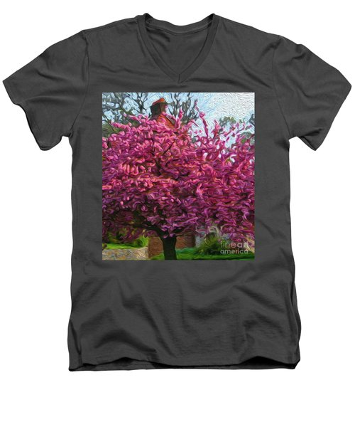 4-19-2057l Men's V-Neck T-Shirt