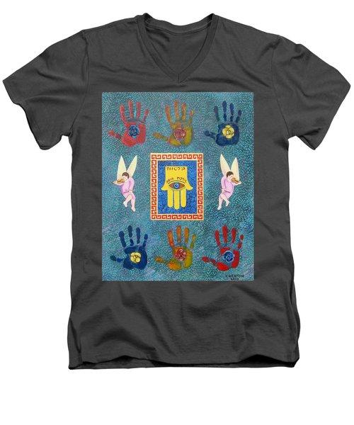 A Lesson In Symmetry Men's V-Neck T-Shirt by John Keaton