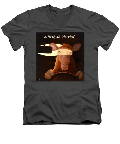 A Sheep At The Wheel... Men's V-Neck T-Shirt