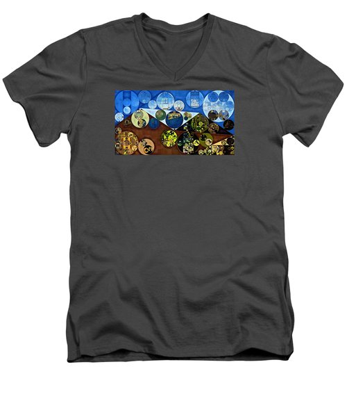 Men's V-Neck T-Shirt featuring the digital art Abstract Painting - Wood Bark by Vitaliy Gladkiy