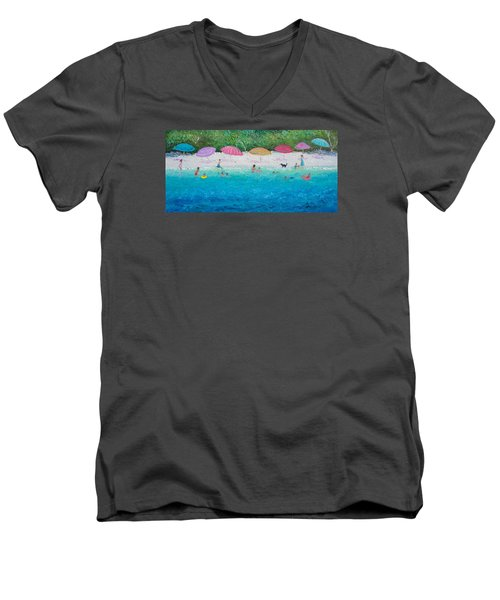 Beach Umbrellas Men's V-Neck T-Shirt