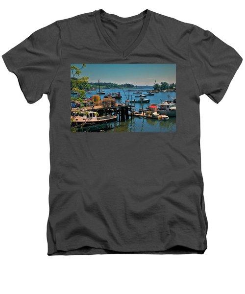 Booth Bay Men's V-Neck T-Shirt