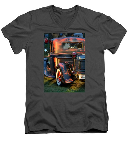 Classic Ford Pickup Men's V-Neck T-Shirt by Dean Ferreira