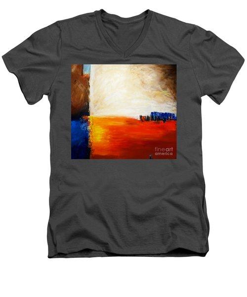 4 Corners Landscape Men's V-Neck T-Shirt by Gallery Messina