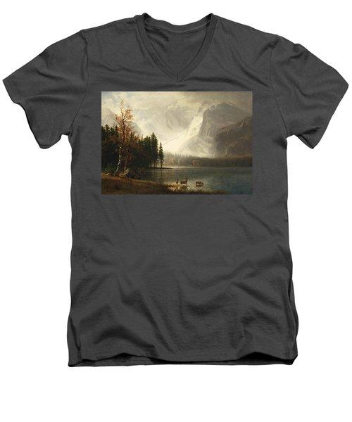 Estes Park, Colorado, Whyte's Lake Men's V-Neck T-Shirt