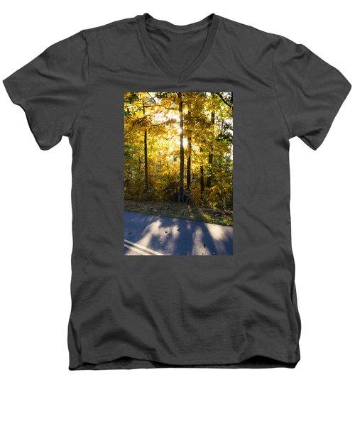 Fall Color Virginia West Virginia Men's V-Neck T-Shirt by Kevin Blackburn