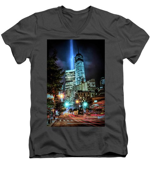 Freedom Tower Men's V-Neck T-Shirt