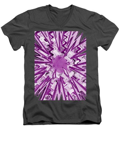 Goodluck Holy Purple  Star Sparkles   Men's V-Neck T-Shirt
