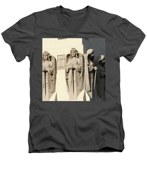 4 Guardian Angels Men's V-Neck T-Shirt