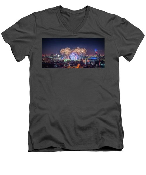Happy New Year London Men's V-Neck T-Shirt