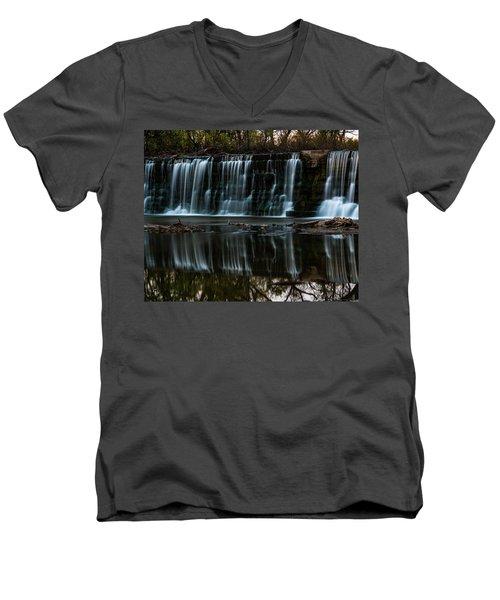 Kansas Waterfall Men's V-Neck T-Shirt by Jay Stockhaus