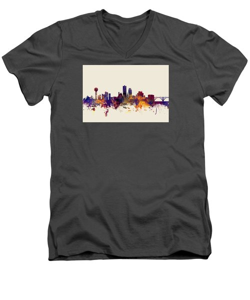 Knoxville Tennessee Skyline Men's V-Neck T-Shirt