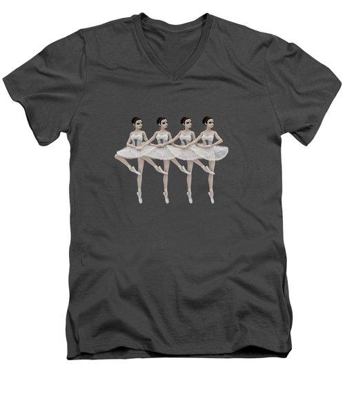 4 Little Swans Men's V-Neck T-Shirt