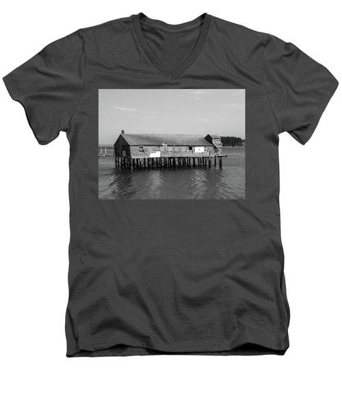 Lubec, Maine  Men's V-Neck T-Shirt by Trace Kittrell