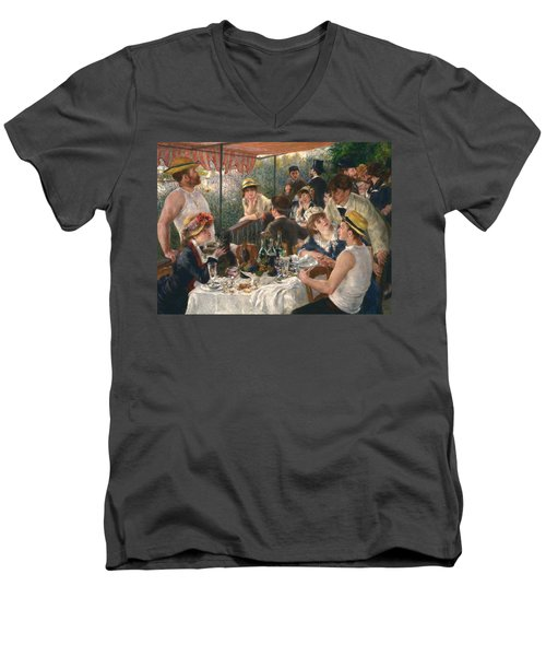 Luncheon Of The Boating Party Men's V-Neck T-Shirt