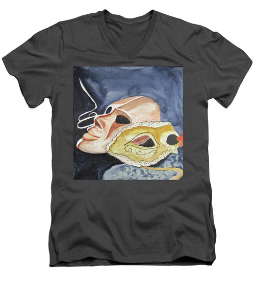 #4 Mask Removed Men's V-Neck T-Shirt