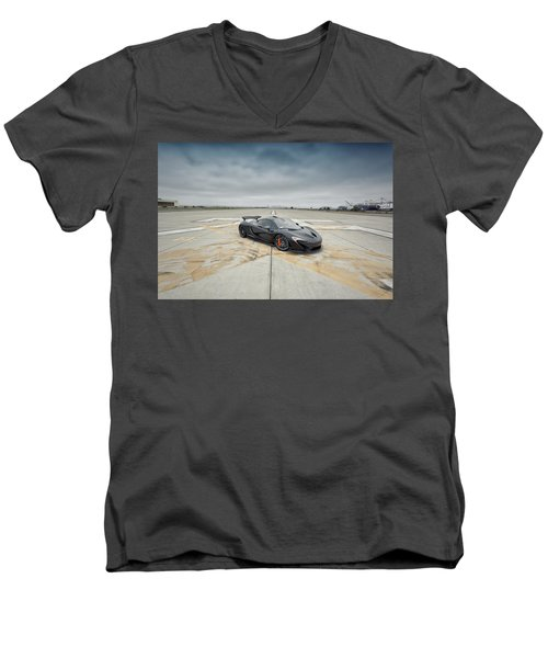 #mclaren #mso #p1 Men's V-Neck T-Shirt