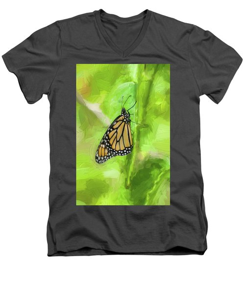 Monarch Butterflies Men's V-Neck T-Shirt by Rich Franco