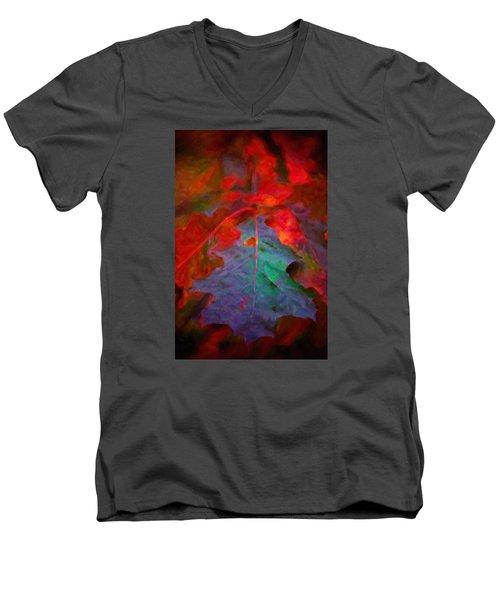 Oak Leaf Men's V-Neck T-Shirt by Andre Faubert