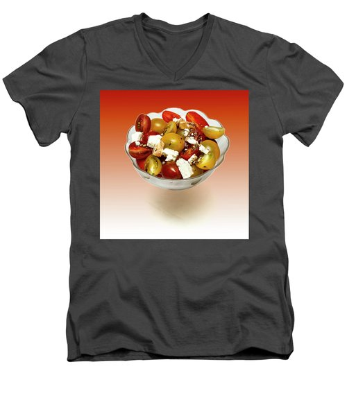 Plum Cherry Tomatoes Men's V-Neck T-Shirt by David French