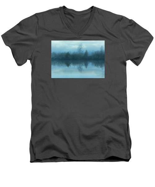 Reflections Men's V-Neck T-Shirt by Cathy Anderson
