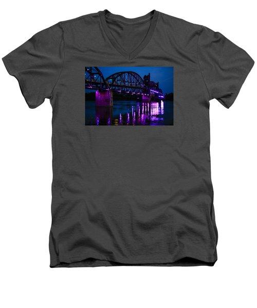 Rock Island Bridge Arkinsas Men's V-Neck T-Shirt by Chris Smith
