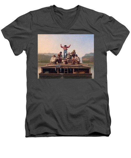 The Jolly Flatboatmen Men's V-Neck T-Shirt