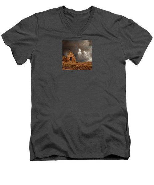 Men's V-Neck T-Shirt featuring the photograph 4398 by Peter Holme III