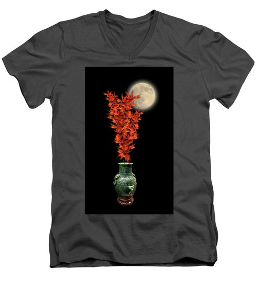 Men's V-Neck T-Shirt featuring the photograph 4406 by Peter Holme III