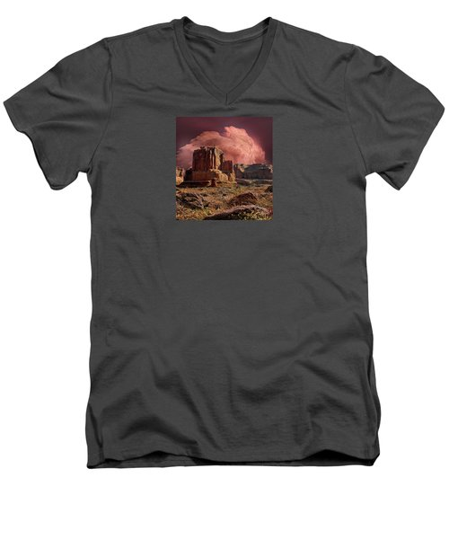 Men's V-Neck T-Shirt featuring the photograph 4417 by Peter Holme III