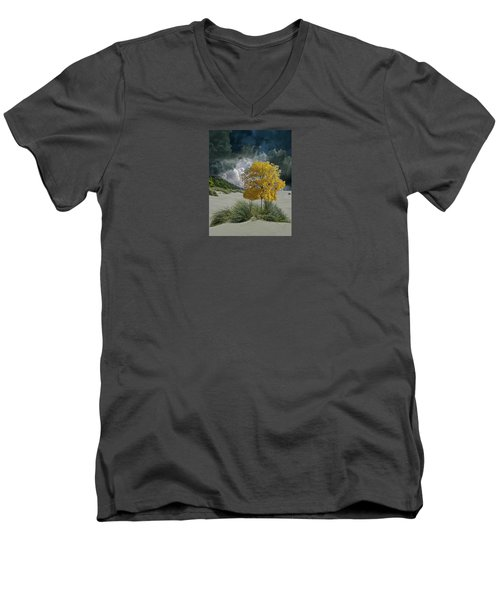 Men's V-Neck T-Shirt featuring the photograph 4422 by Peter Holme III