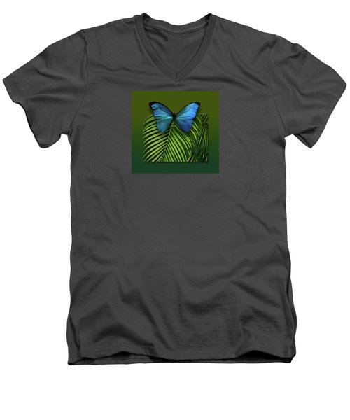 Men's V-Neck T-Shirt featuring the photograph 4426 by Peter Holme III