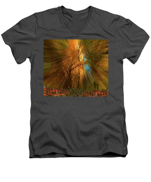 Men's V-Neck T-Shirt featuring the photograph 4478 by Peter Holme III