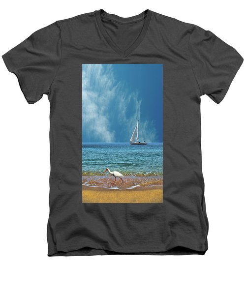 Men's V-Neck T-Shirt featuring the photograph 4485 by Peter Holme III