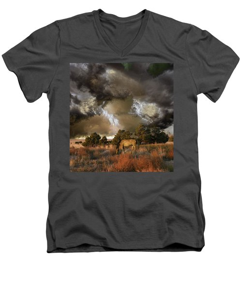 Men's V-Neck T-Shirt featuring the photograph 4486 by Peter Holme III