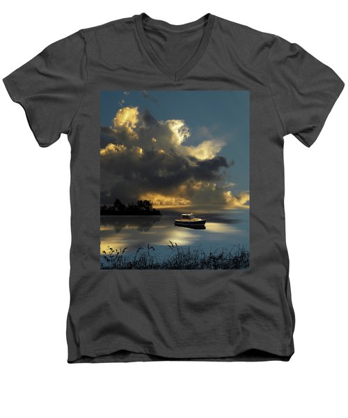 Men's V-Neck T-Shirt featuring the photograph 4487 by Peter Holme III