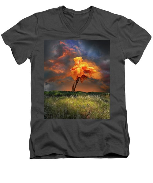 Men's V-Neck T-Shirt featuring the photograph 4490 by Peter Holme III